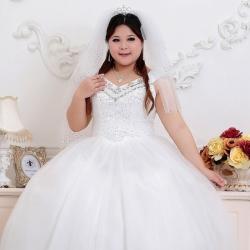 (Pre-Order) ชุดแต่งงานคนอ้วน <สายเดี่ยว> รหัสสินค้า PSWDL0031