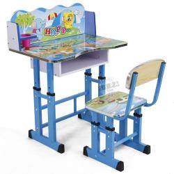 โต๊ะเขียนหนังสือเด็ก+เก้าอี้ สีฟ้า