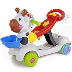 รถผลักเดิน(ปรับหนืดได้)+รถขาไถ+สกู๊ตเตอร์ 3 in 1( Baby Ride-on Deer 3 In 1) ฟรีค่าจัดส่ง