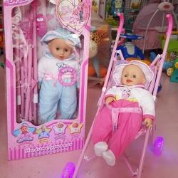 ตุ๊กตารถเข็น กล่องชมพู ล้อมีไฟ