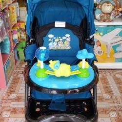 รถเข็นเด็ก+ชุดของเล่นช้างน้อย รุ่นกว้างพิเศษ