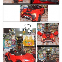 รถแบตเตอรี่เด็กทรงแลมโบ ประตูปีกนก LN4555 สีแดง