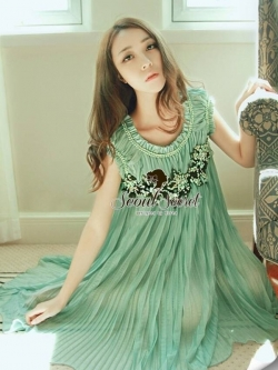 Seoul Secret Pleatta Green Mint Dress