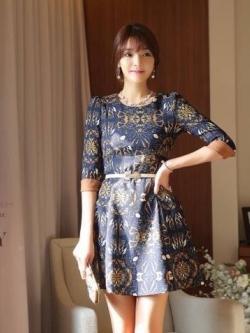 Icevanilla Luxury Print Dress