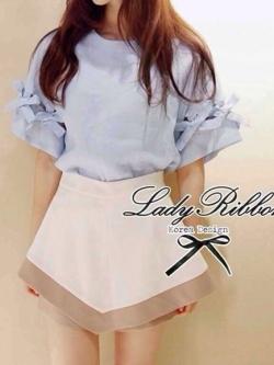 Lady Ribbon Two Tone Mini Skirt-Short กระโปรงกางเกง