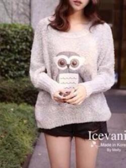Icevanilla 3D Owl Knit Sweater