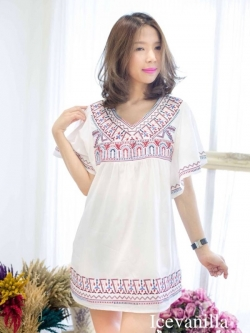 Icevanilla Venice Embroidery Vintage Blouse