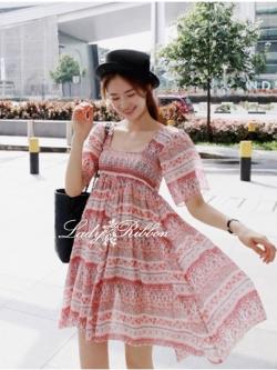 Lady Ribbon Hawaii Mini dress, Partysu Korea