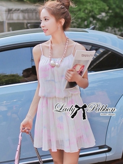 Lady Ribbon Pastel Dream Chiffon Dress