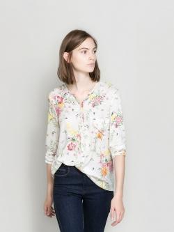 ZARA เสื้อเชิ้ต ผ้าพริ้วลายดอก สวยหวาน