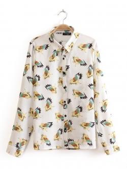 TOPSHOP เสื้อเชิ้ตแขนยาว ผ้าพริ้ว พิมพ์ลาย ม้า Pegasus