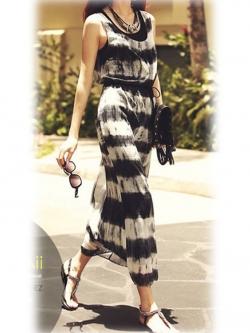 Maxi Dress Set ชุดเซ็ทเดรสตัวนอก และ เดรสตัวใน สีดำ