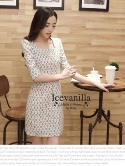 Icevanilla Vince 3D Floral Lace Dress