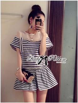 Lady Ribbon Playful Striped Set
