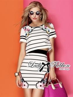 Lady Ribbon Blossom Graphic Play Striped Set