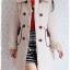 ((ขายแล้วครับ))((จองแล้วครับ))ca-2823 เสื้อโค้ทกันหนาวผ้าร่มสีครีม รอบอก36 thumbnail 3