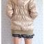 ((ขายแล้วครับ))((คุณNooknickจองครับ))ca-2732 เสื้อโค้ทกันหนาวสีบอร์นทอง รอบอก36-38 thumbnail 2