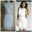 Lipsy White Mesh Dress Size uk10 thumbnail 1