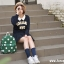 กระเป๋าเป้ยี่ห้อ Super Lover มินิ Retro Polka Dot สไตล์ญี่ปุ่นป่า (Preorder) thumbnail 8