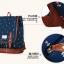 """กระเป๋าเป้สะพาย ยี่ห้อ Superlover สไตส์ญี่ปุ่น มีช่องใส่ Notebook14"""" สีน้ำเงินดอกไม้ (Pre-Order) ใบเล็ก thumbnail 12"""