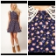 ASOS Floral Navy Skater Dress Size uk8 thumbnail 3