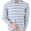 H&M Shirt Blue White Striped Size M thumbnail 1