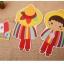 ผ้าสักหลาดเกาหลี ตุ๊กตาพื้นบ้าน (Boy) 1mm มี 7 แบบ ขนาด 45x30 cm/ชิ้น (Pre-order) thumbnail 6