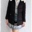 ((ขายแล้วครับ))((จองแล้วครับ))ca-2795 เสื้อโค้ทกันหนาวผ้าร่มสีดำ รอบอก37 thumbnail 3