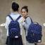 """กระเป๋าเป้สะพาย ยี่ห้อ Superlover สไตส์หญิงเกาหลี มีช่องใส่ Notebook14"""" และกระเป๋าเป้ใบเล็ก สีน้ำเงินดอกไม้ (Pre-Order) thumbnail 5"""