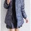 ((ขายแล้วครับ))((คุณวราภรณ์จองครับ))ca-2903 เสื้อโค้ทขนเป็ดสีเขียวนกยูงลายเทา รอบอก42 thumbnail 3