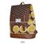 กระเป๋าเป้ยี่ห้อ Super Lover สไตล์เกาหลีใต้ ลายไข่วงกลมสีเหลือง มีช่องใส่โน้ตบุ๊ค (Preorder) thumbnail 10