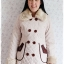 ((ขายแล้วครับ))((จองแล้วครับ))ca-2823 เสื้อโค้ทกันหนาวผ้าร่มสีครีม รอบอก36 thumbnail 1