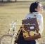 กระเป๋าเป้ยี่ห้อ Super Lover สไตล์เกาหลีใต้ ลายไข่วงกลมสีเหลือง มีช่องใส่โน้ตบุ๊ค (Preorder) thumbnail 6