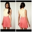 Topshop Rare Two Tone Chiffon Pleat Dress Size uk12 thumbnail 2