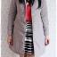 ((ขาย่แล้วครับ))((คุณแม่เอ๋จองครับ))ca-2822 เสื้อโค้ทกันหนาวผ้าร่มสีเทา รอบอก36 thumbnail 3