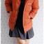 ((ขายนแล้วครับ))((คุณNINGจองครับ))ca-2887 เสื้อโค้ทขนเป็ดสีส้ม รอบอก37 thumbnail 3