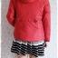 ((ขายแล้วครับ))((คุณกานต์ธิดาจองครับ))ca-2815 เสื้อแจ๊คเก็ตขนเป็ดสีแดง รอบอก40 thumbnail 2