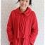 ca-2840 เสื้อโค้ทกันหนาวผ้าร่มสีแดง รอบอก42 thumbnail 1