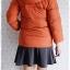 ((ขายนแล้วครับ))((คุณNINGจองครับ))ca-2887 เสื้อโค้ทขนเป็ดสีส้ม รอบอก37 thumbnail 2