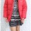 ((ขายแล้วครับ))((คุณPooจองครับ))ca-2753 เสื้อโค้ทขนเป็ดสีแดง รอบอก43 thumbnail 3