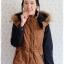 ((ขายแล้วครับ))((จองแล้วครับ))ca-2835 เสื้อโค้ทผ้าร่มสีน้ำตาล รอบอก39 thumbnail 1