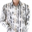 River Island Cream Grey Striped Smart Casual Size M thumbnail 1