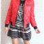 ((ขายแล้วครับ))((จองแล้วครับ))ca-2726 เสื้อแจ๊คเก็ตกันหนาวสีแดง รอบอก38 thumbnail 3