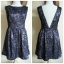 Topshop Glamorous Black Gold Skater Dress Size uk10 thumbnail 3