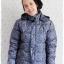 ((ขายแล้วครับ))((คุณวราภรณ์จองครับ))ca-2903 เสื้อโค้ทขนเป็ดสีเขียวนกยูงลายเทา รอบอก42 thumbnail 1