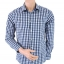 H&M Blue and White Checked Shirt Size M thumbnail 1