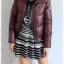((ขายแล้วครับ))((จองแล้วครับ))ca-2746 เสื้อแจ๊คเก็ตขนเป็ดสีเปลือกมังคุด รอบอก38 thumbnail 3