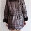 ((ขายแล้วครับ))((คุณบีจองครับ))ca-2839 เสื้อโค้ทกันหนาวผ้าร่มลายเทาดำ รอบอก41 thumbnail 2