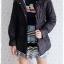 ((ขายแล้วครับ))ca-2811 เสื้อโค้ทกันหนาวผ้าร่มสีดำ รอบอก38 thumbnail 3