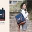 """กระเป๋าเป้สะพาย ยี่ห้อ Superlover สไตส์ญี่ปุ่น มีช่องใส่ Notebook14"""" สีน้ำเงินดอกไม้ (Pre-Order) ใบเล็ก thumbnail 5"""